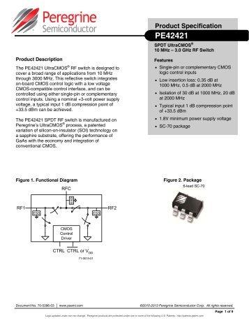 PE42421 DataSheet - Peregrine Semiconductor