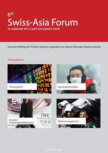 Swiss-Asia Forum Swiss-Asia Forum - Wirtschaftstermine.ch