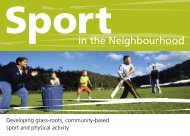 Sport in the Neighbourhood - NSW Sport and Recreation