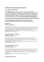 Medienliste Safer Internet Day 2013 - Medienzentrum des Kreises ...
