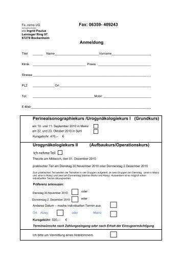 Fax: 06359- 409243 Anmeldung ... - comaug.de