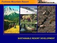 sustainable resort development - Skimap