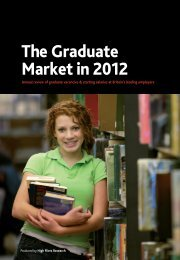 The Graduate Market in 2012 - High Fliers