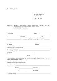 Modulo richiesta deroga rumore.pdf - Assessorato all'ambiente Città ...