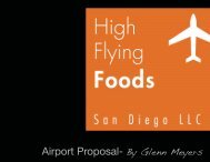 San Diego Proposal - High Flying Foods
