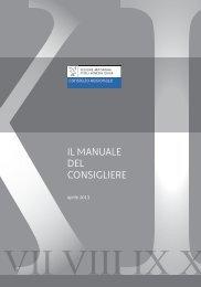 il manuale del consigliere - Consiglio Regionale del Friuli Venezia ...