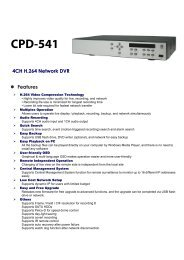4CH H.264 Network DVR Features