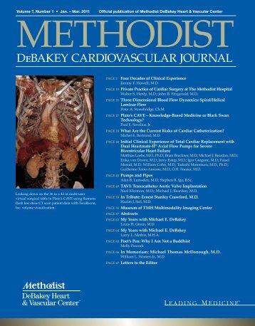 DeBAKEy CARDIOvASCuLAR JOuRNAL - Methodist Hospital