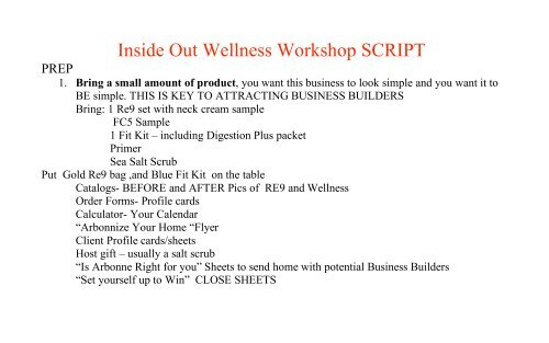 Inside Out Script - Beaty Nation   Arbonne   Pure and Safe