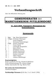 2. Sitzung (230 KB) - .PDF - Marktgemeinde Putzleinsdorf