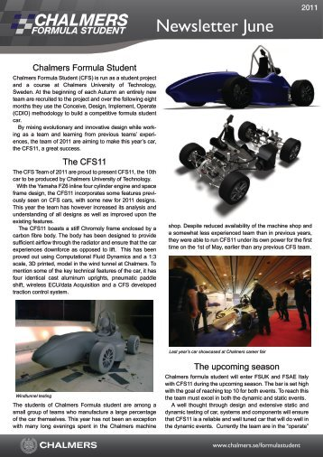Newsletter June - Formula Student