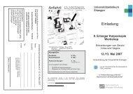 8. Erlanger Kolposkopie-Workshop - Frauenklinik