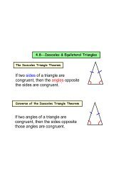 4.8--Isosceles & Equilateral Triangles