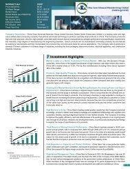Investment Highlights - China Gerui Advanced Materials Group ...