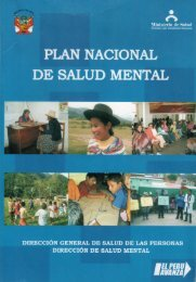 PLAN NACIONAL - BVS Minsa - Ministerio de Salud