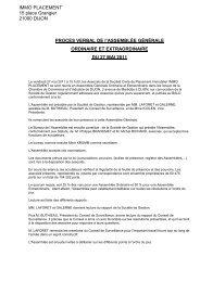 COMPTE RENDU DE l'ASSEMBLEE GENERALE ORDINAIRE