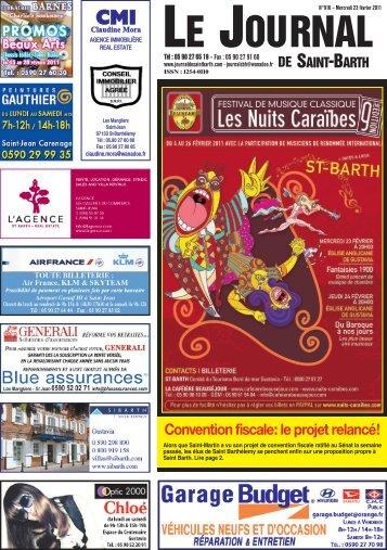 Convention fiscale: le projet relancé! - Journal de Saint Barth