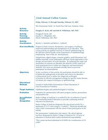 View course brochure - CME Activities