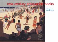 Catalogue 65: Summer 2013 - New Century Antiquarian Books