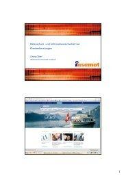 Datenschutz und Informationssicherheit bei klientenorientierten ...