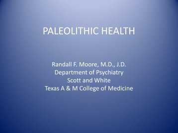 PALEOLITHIC HEALTH - Healthcare Professionals