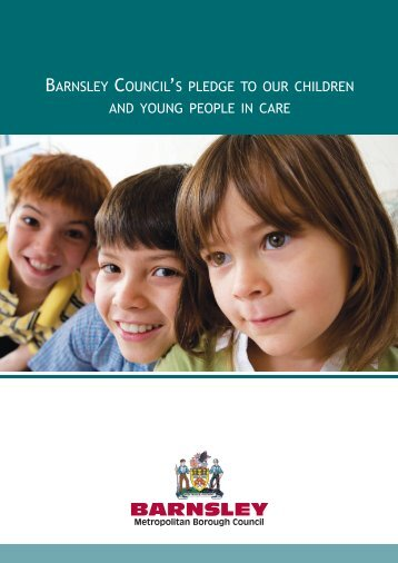 Barnsley Council's Pledge to Children and Young People in Care