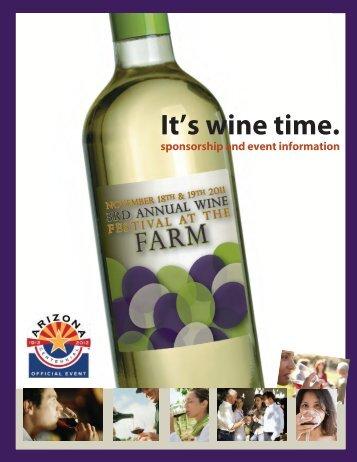 3rd Annual Festival at the Farm Sponsorship-Final.pdf - The Arizona ...