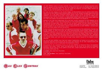 Presseinfo - Lax Alex Contrax