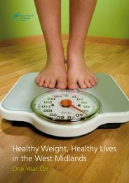 Healthy Weight, Healthy Lives in the West Midlands – One Year On ...