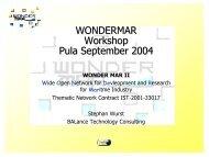 Workshop introduction - wondermar ii