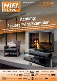 Achtung: letztes Print-Exemplar - HiFi - Team