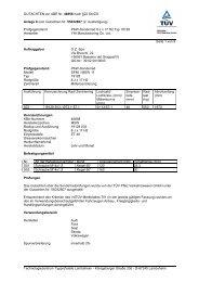 GUTACHTEN zur ABE Nr. 46858 nach §22 StVZO Anlage 9 zum ...