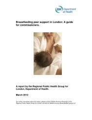 Breastfeeding peer support in London: A guide for commissioners ...