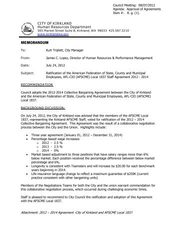 Teamsters Local 763 Collective Bargaining City Of Kirkland