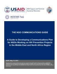 The NGO Communications Guide - AIDSTAR-Two