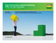 High Performance Asphalt Surfacing - Australian Asphalt Pavement ...
