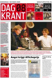 Dagkrant 8: 1 oktober 2009 - Nederlands Film Festival