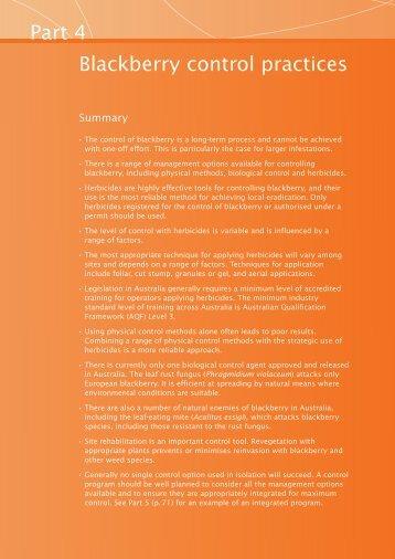 Blackberry control manual - Weeds Australia