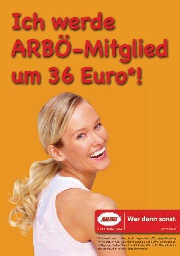 Ich werde ARBÖ-Mitglied um 36 Euro*!