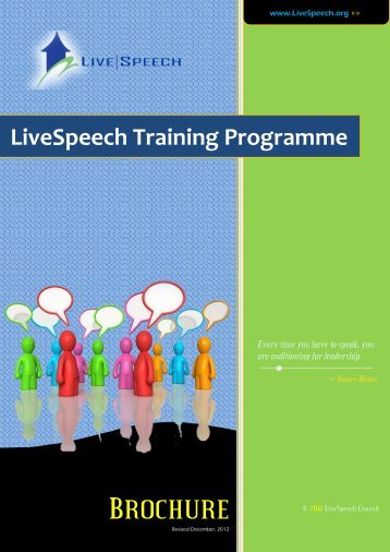 LiveSpeech Training Programme - Advertise.com.ng
