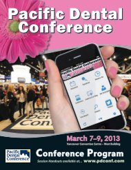 Conference Program - Pacific Dental Conference
