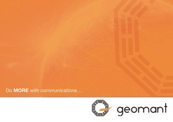 Geomant launches new Optimised Communications applications for ...