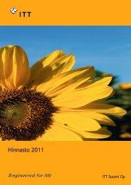 Hinnasto 2011 - Water Solutions