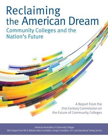 Reclaiming the American Dream - Inside Higher Ed