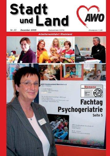 Fachtag Psychogeriatrie - Betreuungsvereine