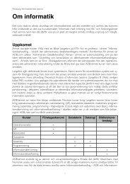 Om informatik, Högskolan Väst, 2012 - Per Flensburgs hemsida