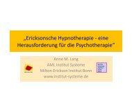 """""""Ericksonsche Hypnotherapie - eine ... - Institut Systeme"""