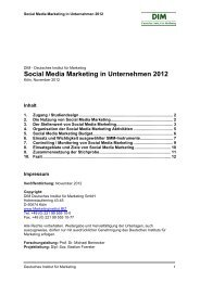 Social Media Marketing in Unternehmen 2012 - Deutsches Institut ...