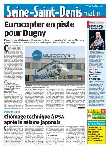 Eurocopterenpiste pourDugny - Pierrefitte Socialiste