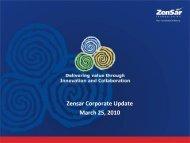 Zensar Corporate Update March 25, 2010